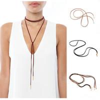 Wholesale 10pcs hot sale Floss Chain Rope Necklace Neck Fashion Decoration for Women Party Festival Personal Decoration