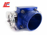 Wholesale New mm Aluminum Universal Throttle Body Intake Manifold High Flow Blue color