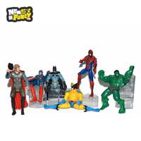 america union - 2016 High Quality Avenger Union Big Hero Marvel Action Figures Spiderman Batman Iron Man Captain America PVC Movie Cartoon Toys Boy Gifts