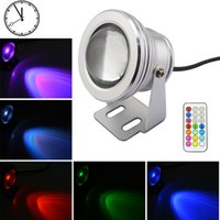 Wholesale W V underwater RGB Led Light LM Waterproof IP68 fountain pool Lamp Lights color change key IR Remote controller