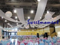 Wholesale 10 m x cm Ceiling Drape for wedding ice silk long ribbon canopy drape roof fabric wedding decoration