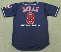 Wholesale Throwback ALBERT BELLE Cleveland Indians Retro jerseys Throwback Alternate Men s embroidery baseball jersey