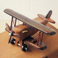 Wholesale Novelty Cedar Wood Gilder Plane Model Home Decor Craft Ornaments Classic Designer New Gifts for Sale