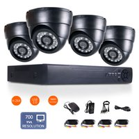 Wholesale 4CH H Security DVR HD Wide Angle TVL CMOS IR mm indoor CCTV Cameras Support Intercom customize motion detection