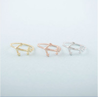 best package holidays - Women s fashion anchor ring ring and mixed silver plated color package mail holiday best gift