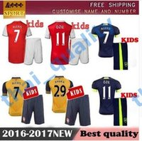 arsenal youth - Best Quality Kids Arsenal Soccer Jersey Kits ALEXIS WILSHERE GIROUD CHAMBERS OZIL Chilld Youth Football Shirts