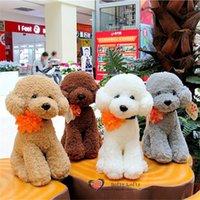 bichon stuffed animal - 1PC Retail Life like Teddy Poodle Dogs Bichon Frise Plush Toy stuffed warm soft animals kids birth christmas gifts