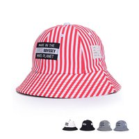 Wholesale New Han edition beach cap is prevented bask in a basin Ms stripe fisherman hat man in spring and summer outing portable folding sun hat