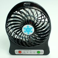 Wholesale Whoesale colors desktop mini fan with LED light USB rechargeable lithium Battery Power Source battery DHL