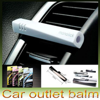 Wholesale Delicate Car monolick Magic wand Air Freshener Fragrance Car Air conditioning Outlet Vent Balm Perfume DHL