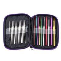 Wholesale Knitting Needle Set Crochet Needle mm size PU Leather Bag