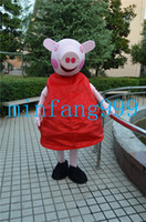 Wholesale High quality pink pig mascot costume and blue mascot costume