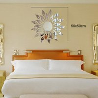 american solar - Solar environmental Acrylic living room wall stickers decorative crystal mirror perspective new European and American fashion