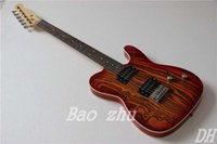 ash instruments - TL Mahogany Solid Body Ash Top and Back Electric Guitars Ice Red Finish China Guitarras Musical Instrument Freeshipping Guitare