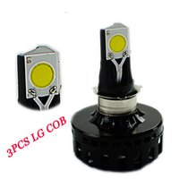 Wholesale BSOD LED motorcycle car headlamp replacre H4 bulb white degree low high lumens COB degree light source