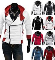 Wholesale Stylish Costumes Men - Wholesale-2016 Stylish Mens Assassins Creed 3 Desmond Miles Costume Hoodie Cosplay Coat Jacket