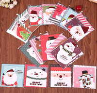 Wholesale Greeting Cards Merry Christmas Day Deer Snowman Holiday Greeting Thanksgiving New Year Paper gift cards party festive supplies
