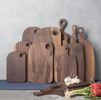 Wholesale Black walnut chopping block bread board sushi plate pizza cutting board chopping board pallet all solid wood patchwork