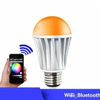 Wholesale Fashion Design LED Bulbs E27 Bluetooth Bulbs for iPhone Control WiFi Smart RGB LED Lighting Bulbs OED P001 W