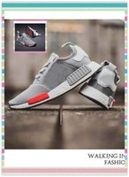 best moscow - Best Cheap discount Originals NMD Sneakers Men s Men Running Runner Moscow gray red Primeknit Sports Outdoors boost Shoes