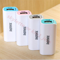 Wholesale New Remax mAh Universal powerbank Mini portable battery backup external power for iPhone S Samsung S7 HTC Sony huawei