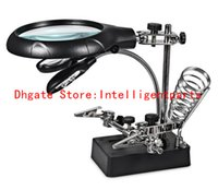 Wholesale High Quality LED Light X Magnifier Desk Lamp Repair Clamp Desktop Magnifying Glasses with Alligator Clip