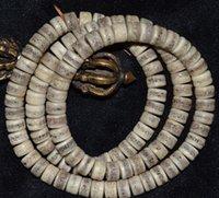 antique tibetan coral - Tibetan prayer beads bracelets bracelet Tibetan barrel beads beads yak bone genuine antique