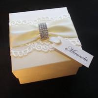 bespoke wedding gifts - Elegant Lace Diamante Buckle Decorated Gift Box Bespoke