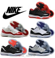 mens athletic shoes - Nike dan Low Varsity Red Basketball Shoes Mens Bred Georgetown Space Jam Citrus GS Retro Athletics Sneakers AJ11 XI Shoes