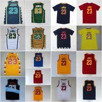 lebron james jersey - LeBron James Jersey LeBron James Throwback Basketball Jersey Embroidered Irish High School Jersey