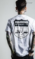 advertising scoop - Brand Diamond sports round collar Classic white black quickdry cotton Basketball jerseys men sports Stamp culture Advertising t shirts S L