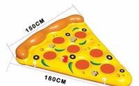 Wholesale 180cm cm Inflatable Giant Pizza Slice Pool Float High Quality For Adult Outdoor Sports Water Swimming Inflatable Lounger DHL Shipping