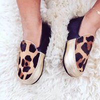 baby girl loafers - Retail Autumn Winter Baby Boys Girls Loafers Leopard Print Genuine Leather Hard Sole IG popular Anti slip First Walkers Toddler Kid Shoes