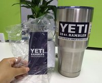 Wholesale New Yeti oz or oz Cups Cooler YETI Rambler Tumbler Travel Vehicle Beer Mug Double Wall Bilayer Vacuum Insulated Stainless Steel
