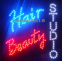 barber hair design - 2016 new coming design your own logo larger LED hair beauty studio open sign x19 quot spa neon barber nails shop facial