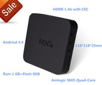 Wholesale Android tv box MXQ MXQ PRO TV BOX S805 Quad Core H GB GB TV Channels support GHz wireless mouse and keyboard