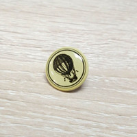 balloon pin - 1000pcs a round shape fire balloon printing on metal pin badge fire balloon pin for gift