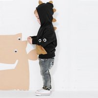 Wholesale 2016 Boys Coats jacket spring Long Sleeve Thicking boys Children Wadded Outwear Coats kids jacket Down Parka dinosaur hoodies