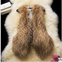 Wholesale New Arrival Winter Warm Fashion Women Import Coat Fur Vest High Grade Faux Fur Coat Vest Waistcoat Coat Plus Size M XXL