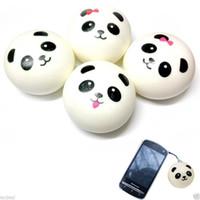 Wholesale Cute cm Panda Squishy Kawaii Buns Bread Charms Bag Key Cell Phone Straps Pair Random Soft Panda Squishy Bread Semll