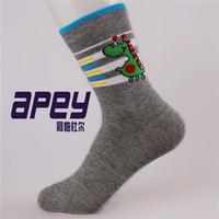 cartoon children socks - Cotton Unisex Children Socks Cartoon Animal Candy Cute Socks for kids Striped socks Boys Girls warm sock