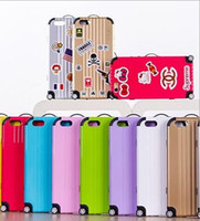 bags plus luggage - HOT Luxury Travel Luggage Carrier Suitcase Bag Fashion DIY Cover trolley Phone case For iPhone S S Plus Sticker Film