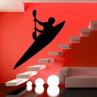 animal stairs - Modern Style Living Room Stair Wall Decor Sticker Kayak Wall Decal Vinyl Removable Self Adhesive Home Decor