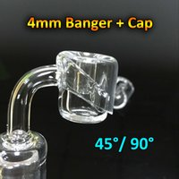Wholesale Quartz Banger Carb Cap With mm Thick Banger Female Male mm mm mm Degrees Quartz Bangers Nails For Oil Rigs Glass Bongs