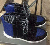 best high top basketball shoes - Selling Kanye Shoes Best Quality Men s Shoes Basketball Shoes Kanye West Boost Blue Kind Shooting Black High top Sneakers