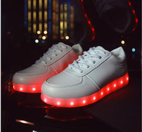 art tables for adults - Led Coupl Shoes colors sneakers USB charging for adult flat Lace Up handmade luminous led shoes For man women LED SHOES LACE