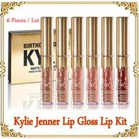 Wholesale Kylie Jenner Limited gold Birthday Edition Kylie lipsticks Matte liquid Lipstick set mini gold kylie lipgloss kit