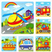 Wholesale Baby Toys Baby Toys Educational Vehicle Puzzles Wooden Toys Traffic D Puzzle Birthday Gift