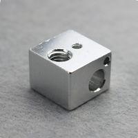Wholesale 3d printer accessories all metal E3D hot end heat block aluminum with oxidation treatment