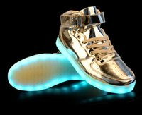 big red charges - New LED Shoes New Fashion Big Size light colorful Flashing Shoes with USB Charge Unisex Couple Shoes For Party Sport Casual Shoes LLWH01